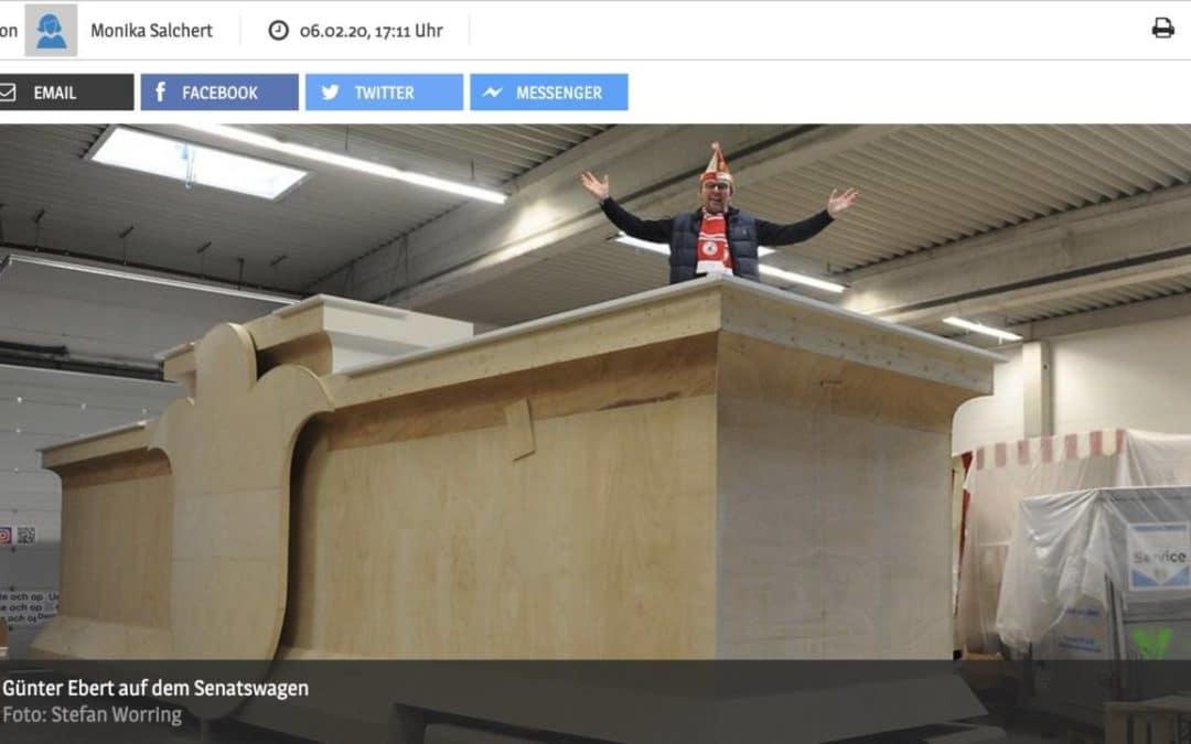 Für über 100.000 Euro Rote Funken mit barrierefreiem Wagen in Kölner Rosenmontagszug