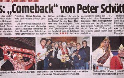 "Fööss: ""Comeback"" von Peter Schütten"