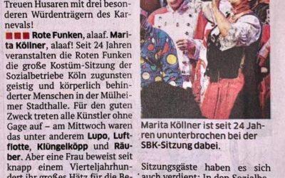 Marita Köllner – 24 Jahre SBK-Sitzung