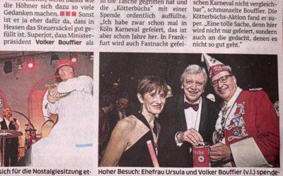 Hoher Besuch bei den Roten Funken – Volker Bouffier
